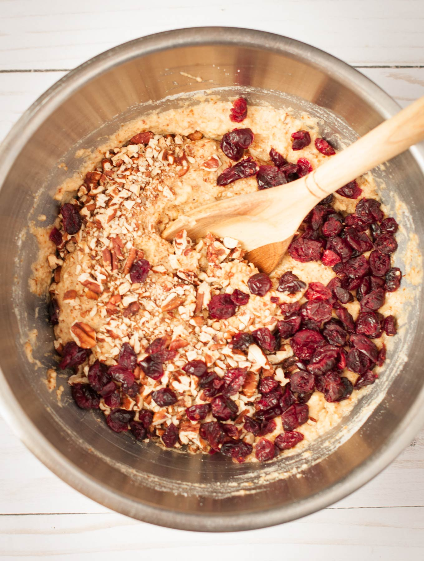 Gluten Free Cranberry Cardamon Scones Batter