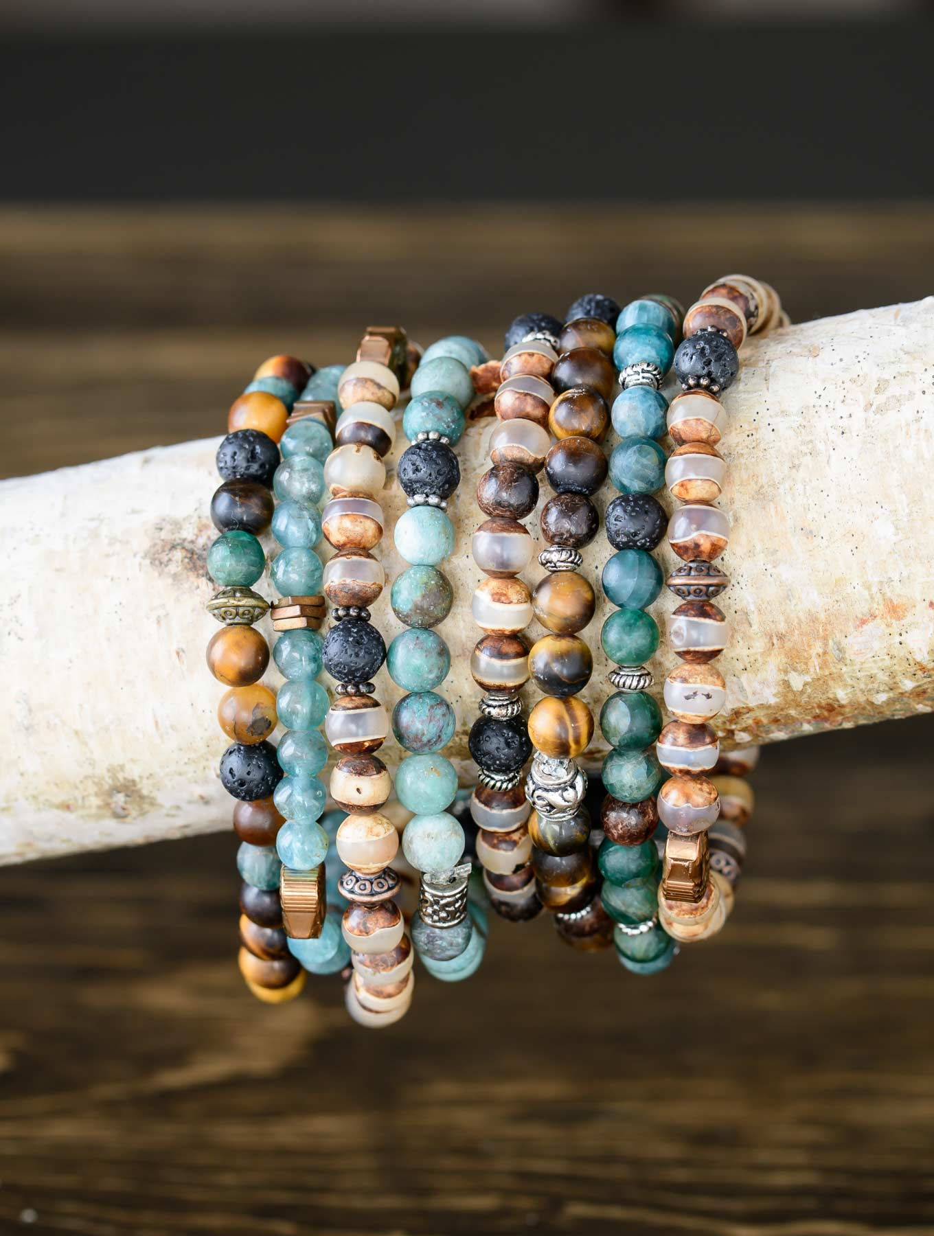 Essential Oil Diffuser Bracelets on a Branch