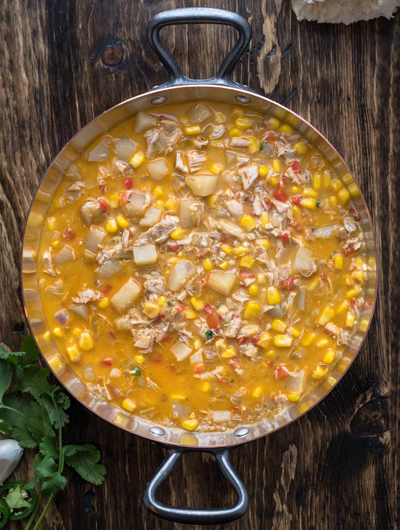 Pot of Southwest Corn Chowder