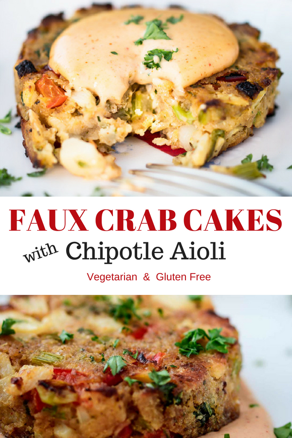 Faux crab cakes with chipotle aioli