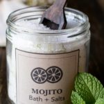 Jar of Mojito Bath Salts with Mint