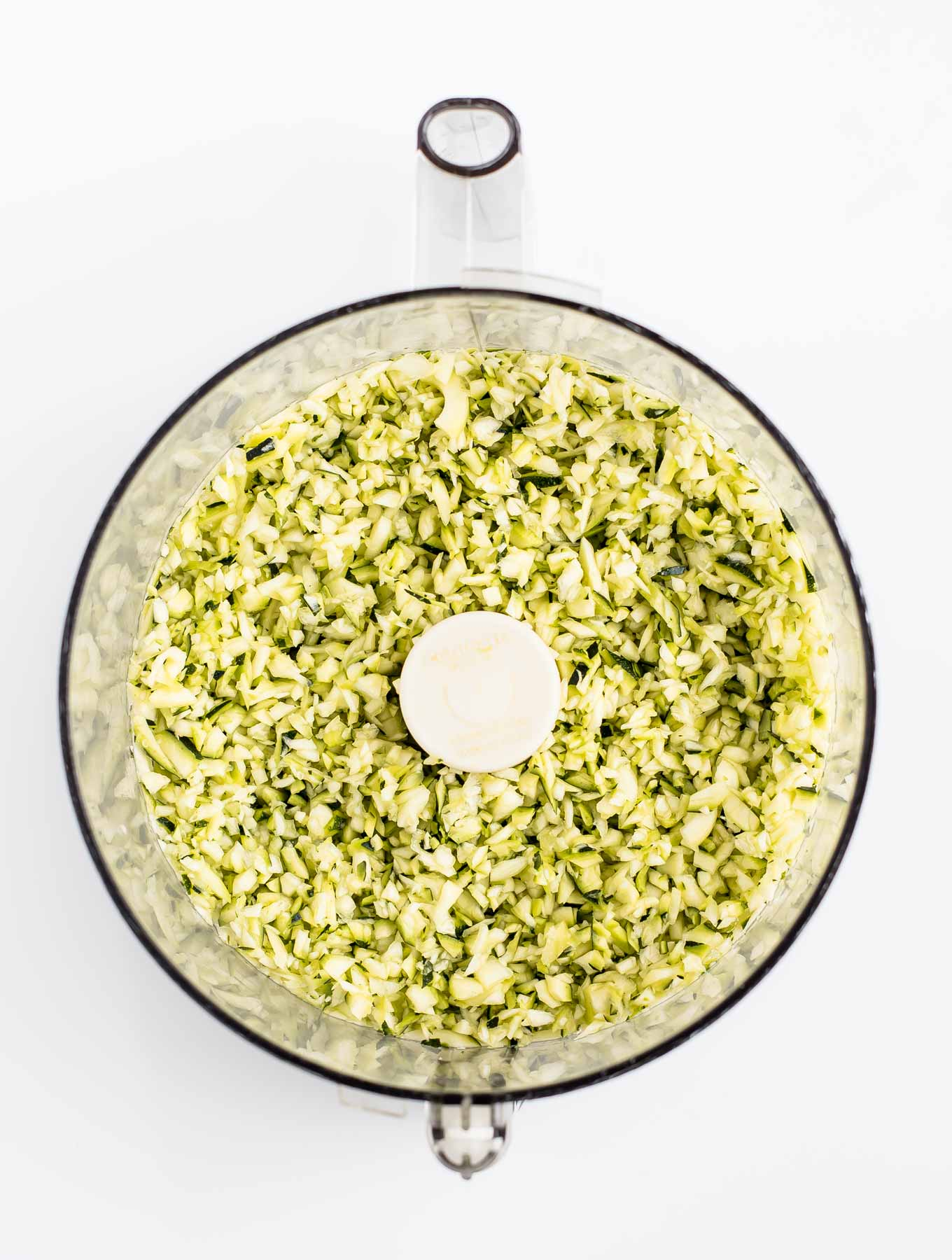 Food Processor with Riced Zucchini