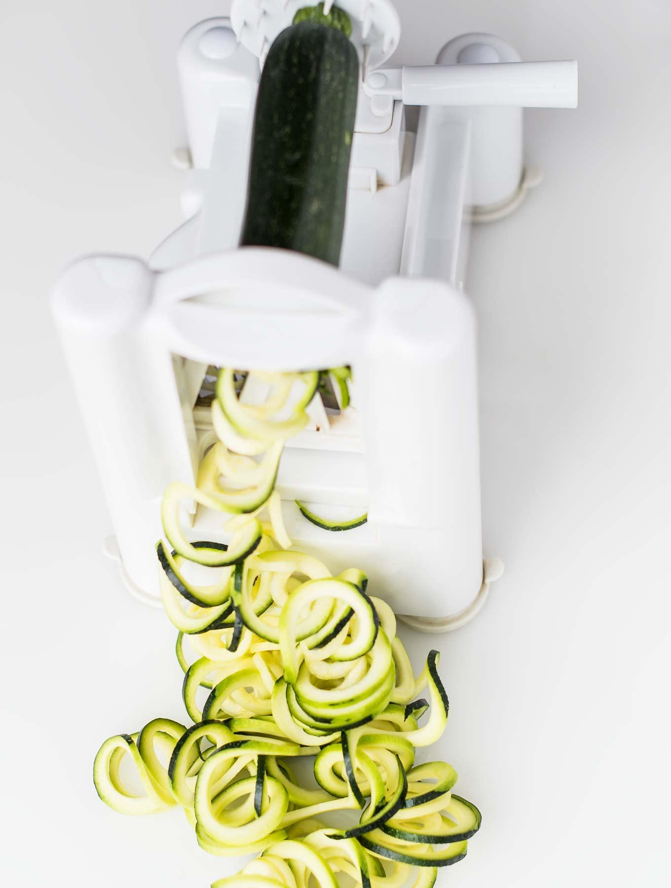 Spiraled Zucchini