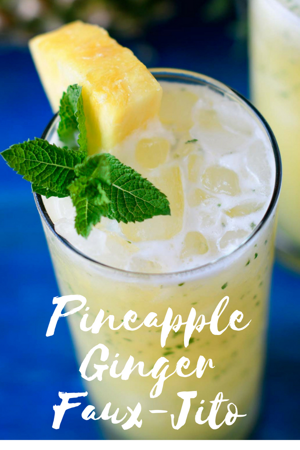 Pineapple Ginger Faux-Jito