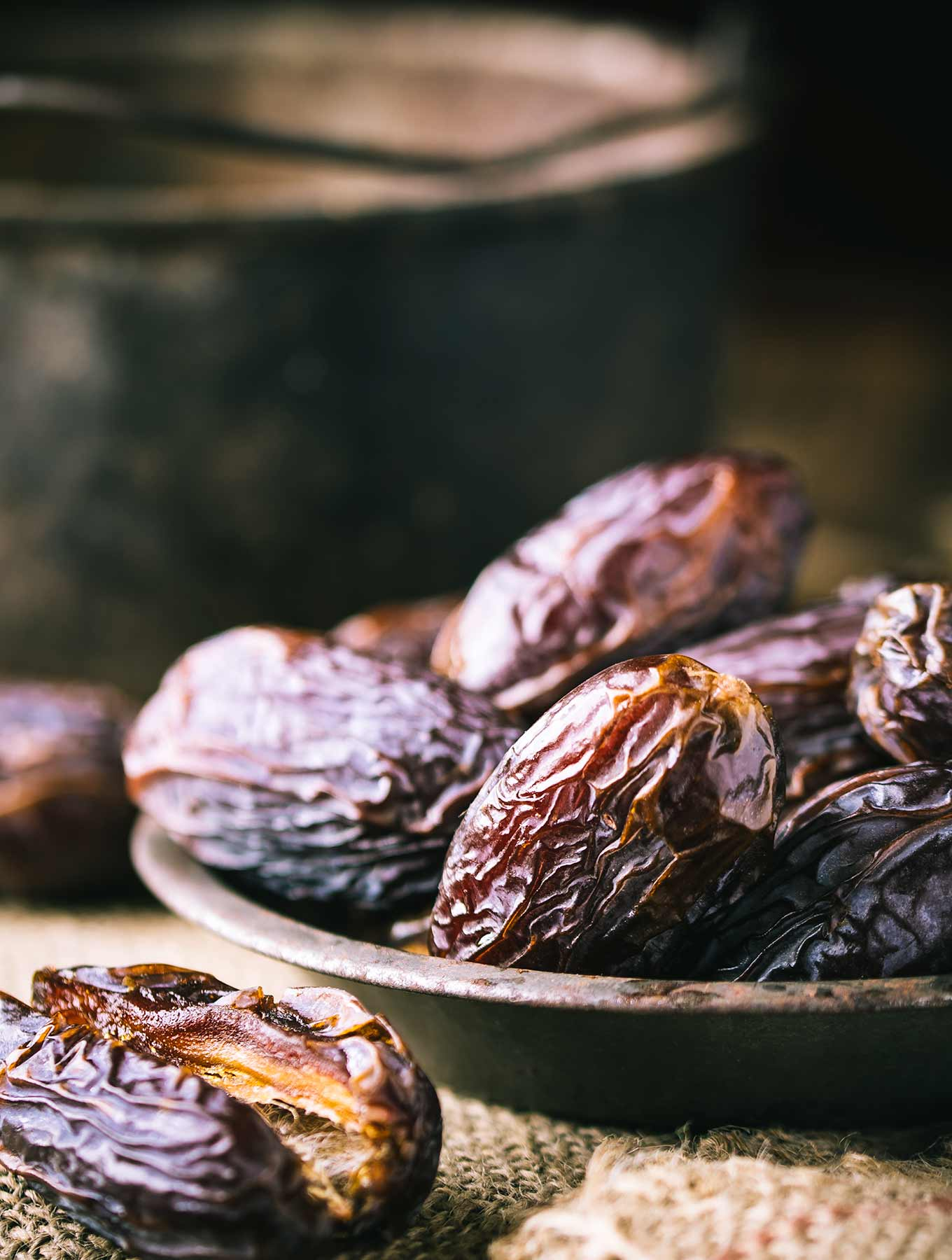 Bowl of Mejool Dates