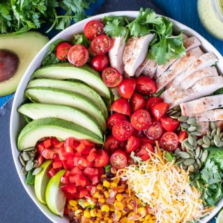 Tex Mex Chicken Salad with Cilantro Lime Dressing
