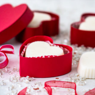 Heart shaped lotion bars