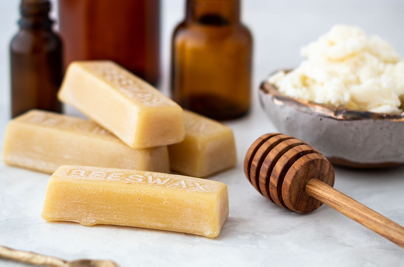 Bees wax and shea butter