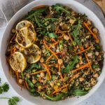 Moroccan quinoa salad with curry dressing