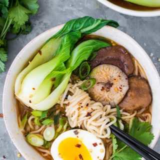 Bowl of instant pot ramen