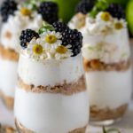 Close up of key lime pie parfait